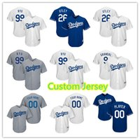 Wholesale los angeles jerseys - Los Angeles 26 Chase Utley 74 Kenley Jansen Jersey 100% stitched Men's Baseball Jerseys Custom any name number