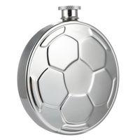 paslanmaz çelik hip şişe alkol toptan satış-Taşınabilir Paslanmaz Çelik futbol Hip Flask Şarap Pot Barware Içme Fincan Futbol Damarı Sızdırmaz Alkol Viski Açık Şarap Şişesi