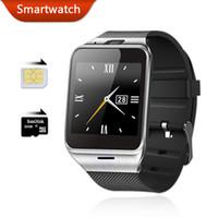 smartwatch gv18 оптовых-Смарт Часы Android Wear Aplus SmartWatch GV18 с SIM-карты Интеллектуальных часов мобильного телефона SmartWatch