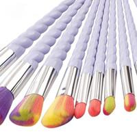 Wholesale Brush Styles - SAMPLE 1SET IN STOCK! NEWEST Makeup Brush Set Foundation Brush Eyeshadow Brush kit 10pcs set 3 Style Free Ship