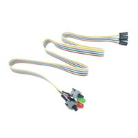 Wholesale Reset Lights - ATX PC Compute Motherboard Power Cable 2 Switch On   Off   Reset with LED Light 50CM Futural Digital Drop Shipping JUN30