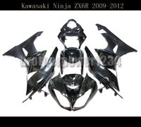 ninja zx6r body kit großhandel-Schwarze Einspritzung Verkleidung Bodywork Kit für Kawasaki Ninja ZX6R 2009 10 11 2012