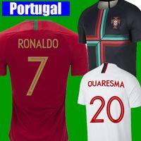 Wholesale jersey ronaldo - CR7 Cristiano RONALDO 7 Portugal soccer jersey 2018 2019 World Cup Jersey QUARESMA NANI Football kit Shirt 18 19 Camiseta ANDRE SILVA Jersey