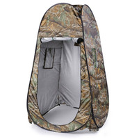 продажа палаток оптовых-2018 Hot Sale Portable Outdoor Waterproof Easy Open 180T Tent Camping Beach Shower Changing Room Foldable With Bag Camouflage