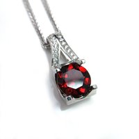 915d7656be84 Venta al por mayor de Collar Rojo Granate Redondo - Comprar Collar ...
