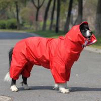 grands vêtements de chien achat en gros de-Grand chien imperméable grand chien combinaison de pluie veste imperméable vêtements pour chiens golden retriever labrador