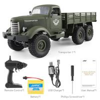 autos großhandel-JJRC Q60Transporter-1 Q61Transporter-2 2.4G RC-Rennwagen-Fernbedienung Off-Road-Militär-LKW 6WD RC Cars Geschenk für Kinder