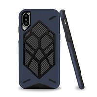 бронированный чехол для мобильного телефона оптовых-Горячая продажа для iphone 7 Case противоударный углеродного волокна зерна tpu PC гибридный броня case Anti-crash Mobile case