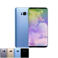 Wholesale Cellphones Smartphones - Goophone S8 plus s8+ unlocked cellphone 6.3inch smartphones 1g 8g show 128GB ROM fake 4G LTE 3G Cell phones with black accessories