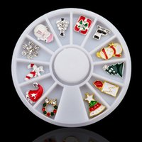 Wholesale manicure tools supplies for sale - Group buy Pandahall d Alloy Christmas Design Nail Art Decoration Wheel Glitter Rhinestone Manicure Nail Supplies Tools
