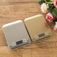 Wholesale Digital Scales 1g - Digital Kitchen Scale Multifunction Food Scale 1g 5kg Silver Black Stainless Steel Kitchen Tool Food Scale on Sale