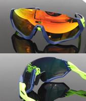 armee militärische rahmen großhandel-Dropship Flight Jacke Prizm Sonnenbrille 3 Objektiv UV400 Fahrrad Radfahren Brille Speedtraped Männer / Frauen Sport Rennrad