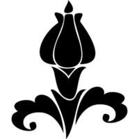 calcomanías cuerpo de la flor del coche al por mayor-Patrón Flor Coche Etiqueta Vinilo Bolsa de coche Cuerpo Calcomanía Decoración Silueta Hermosa