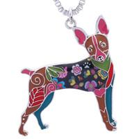 juguetes usan mujeres al por mayor-Toy Fox Terrier Collar de Regalos para Amantes de los Perros Mujeres Únicas Joyería de Mascotas Hechas A Mano Se Puede Utilizar como Keychai