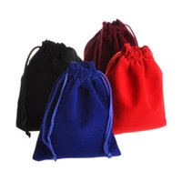 Wholesale small velvet gift bags for sale - Group buy Small Velvet Jewelry Packing Bags Drawstring Pouches Wedding Gift Bags Colors Sizes for Choose