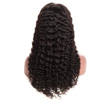 Wholesale french deep wave human hair for sale - Group buy New Arrivel Human Hair Wigs Density Glueless Lace Front Human Hair Wigs For Black Women Brazilian Deep Wave Curly Lace Front Wig