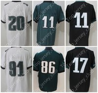 Wholesale Branded Name - 2018 New American Football Jersey With Super Patch Name Brand logo Custom Men Women Youth Kids 9 11 17 20 Green Black White Blue Lll Limited