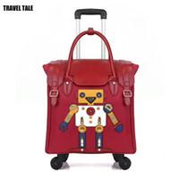 18 zoll gepäck großhandel-TRAVEL TALE 18 Zoll Frauen Handgepäck leichte Reisetasche niedlichen kleinen Trolley für die Dame