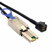 sas diskleri toptan satış-Mini SAS Yüksek Yoğunluklu SFF-8088 Harici Mini SAS SFF-8088 Sunucu Sabit Disk Raid Veri Kablosu 100 cm