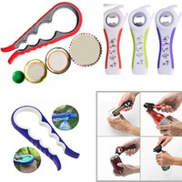 Wholesale bottle jam - 5 In1 And 4 In1 Multifunction Bottle Openers Tin Jar Can Jam Wine Opener With Seals Lids For Seniors Kitchen Dining Bar Tool HH7-352