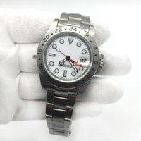 спортивные наручные часы белые оптовых-Новый роскошный бренд мужские часы EXP 16570 роскошные белый циферблат Мужские спортивные наручные часы мужские часы из нержавеющей стали складной застежка