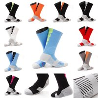 Wholesale women socks nylon short - Wholesale Women Men Antiskid Basketball Socks Compression Socks 10 Styles Sports Socks Middle Short Tube Free DHL G465Q