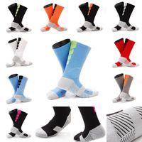 Wholesale compression short soccer for sale - Women Men Antiskid Basketball Socks Compression Socks Styles Sports Socks Middle Short Tube Free DHL G465Q