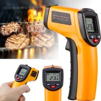 Wholesale temperature gun contact infrared thermometer laser resale online - NEW Non contact Temperature Gun Temp Meter Digital Laser IR Infrared Thermometer with Retail Box High Quality