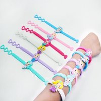 Wholesale mermaid jewelry free shipping for sale - Group buy New Fashion Cute Multicolor Mermaid PVC Kids Bracelet Wristband Bangle Birthday Party Home Jewelry Gift