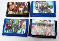 demir adam cüzdan toptan satış-Çocuk cüzdan Avengers süper kahramanlar erkek ve kız Çanta karikatür Demir Adam Hulk çocuklar cüzdanlar TO530