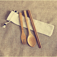 Wholesale wedding favors fork spoon resale online - Dinnerware Set Scoop For Sushi Rice Wedding Gift Party Favors Japanese Style Natural Bamboo Tableware Travel