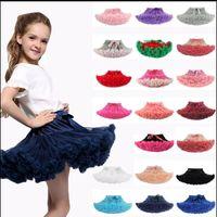traje de faldas de ballet al por mayor-27 diseño Baby Girl Princess Party Ballet Dancewear Tutu falda vestido tutú trajes lindo vestido KKA5768