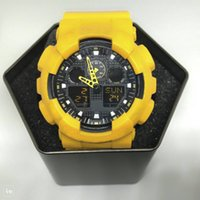 Wholesale men's sport watches - 2018 Popular Mens Summer G Sports GA110 Watches LED Waterproof Climbing Digital S Shock Men Watch All Pointer Work Original Box