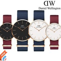 Wholesale yellow white belts for men - reloj mujer 2018 Daniel watch womens red Nylon belt Student sports watch for men fashion quartz watches male clock Relogio reloj hombre