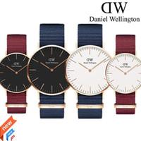 Wholesale womens watch bronze - reloj mujer 2018 Daniel watch womens red Nylon belt Student sports watch for men fashion quartz watches male clock Relogio reloj hombre