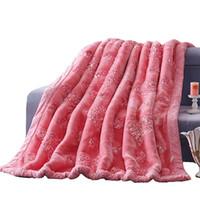 mantas tamaño queen al por mayor-Rose y corazón patrón bordado decoración para el hogar súper suave esponjoso manta regalo de boda Queen tamaño grueso cálido visón manta tiro