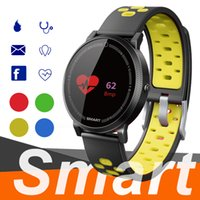 termómetros para niños al por mayor-F4 Smart Bracelet Watch Band rastreador de fitness Presión arterial Heart Rate Monitor Termómetro Podómetro Wristband para Android IOS pk fitbit