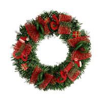coronas de metal al por mayor-Nueva Guirnalda de Navidad LED Guirnalda Verde Claro PVC Red Garland Garland Home Hotel Shopping Mall Decoración Puerta Colgando