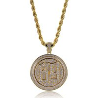 Wholesale 24k gold pendants for men for sale - Group buy Rotate ix9ine Pendant Necklace For Men K Gold Silver Plated Hip Hop Jewelry Ice Out Bling Cubic Zirconia Accessories