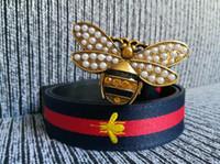 diseñador de mariposas al por mayor-Mariposa hebilla cinturones de lujo de diseño genuino Cinturón elástico correas para las mujeres Color bar patrón cinturón femenino vestido cinturones cinturón de correa para mujer