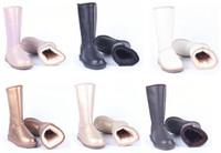 venda de botas longas venda por atacado-Vendas Hot sapatos de grife Botas australianos ug mulheres neve botas de inverno de couro à prova d'água quente botas longas ao ar livre