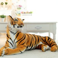 чучела плюшевого ребенка оптовых-Animals Tiger Stuffed Plush Toy Dolls 30CM Children Baby Kids Birthday Gift Home Car Decoration Tiger Stuffed Toys
