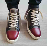 Wholesale fabric wine bags resale online - With Hand bag Top Birthday Gift Red Sole Brand Designer Wine red Genuine Leather Red Bottom Men Sneakers ORLATO MASTIC SNEAKERS TRAINERS