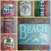 Wholesale beach art decor for sale - BEACH Vacation cm Metal Tin Signs Bedroom Wall Decorations Home Decor Wall Art Pictures Crafts Art Painting Supplies