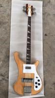 guitar body mahogany maple 2018 - Wholesale new arrival rickenbackr 4003 Electric bass Guitar mahogany body,Through neck 4003 in natural 180620-0720