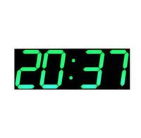 calendrier d'horloges modernes achat en gros de-Grand Digital Horloge Murale Design Moderne Montre Murale Minuterie Calendrier Compte À Rebours Température Station Météo Décor À La Maison Nixie Horloge
