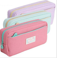 Wholesale stationery stores resale online - High Quality Canvas Pencil Cases Stationery Store Big Size School Pencil Bag Stationery For Students Pencil Case Large Size