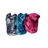 sudaderas con capucha de estilo británico al por mayor-Ropa de mascotas Cachorro Sudadera con capucha Abrigo de suéter Sudadera con capucha Chaqueta a prueba de viento Reversible Mascota Chaleco de perro a cuadros de estilo británico Azul