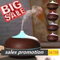 Wholesale Wooden Aroma Diffuser - Hot sales promotion Factory Wholesale 300ml wooden Aroma Diffuser Wood Grain Ultrasonic Mist Maker with LED Multicolor Light Humidifier