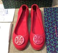 ingrosso pattini di cuoio della ballerina-Famoso designer di marca roll-up fibbia in metallo pelle di pecora vera pelle ballerine slip on casual mocassini donna scarpe da donna Sz 35-41